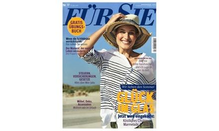 """Jahres-Abo der Zeitschrift  """"Für Sie""""  : 9,95 €"""