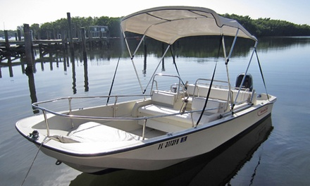Full-Day 15- or 17-Foot Boat Rental from I.C. Sharks (50% Off). Four Options Available.