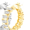 Diamond Accent Tennis Hoop Earring with French Lock Closures