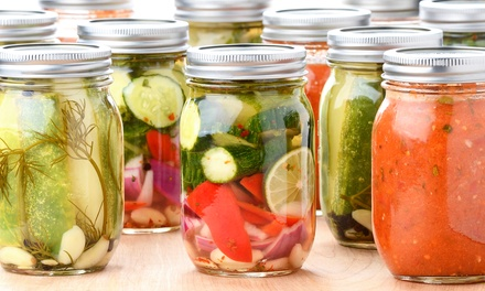 Intro to Canning for One, Two, or Four with Wine and Entrees at Eat Local (Up to 61% Off)