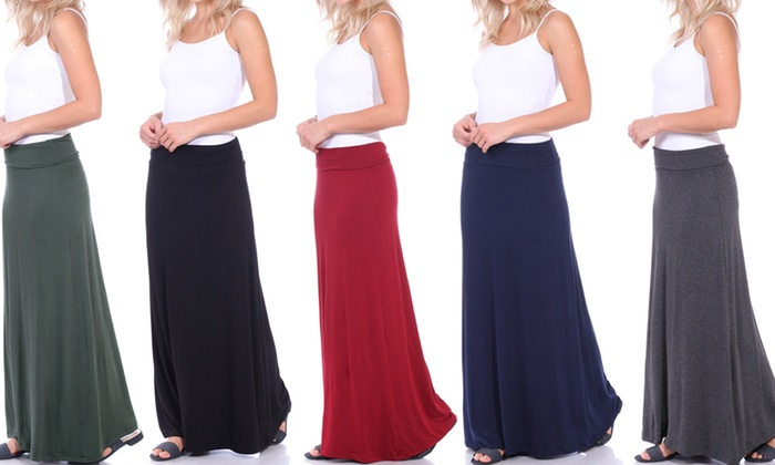 69b2524f6a Women's Convertible Fold-Over Maxi Skirt. Plus Sizes Available ...