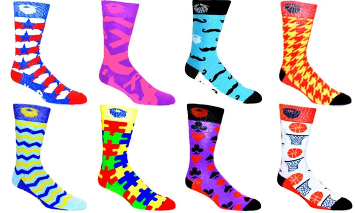 1f1bfeef0 ManSocks Men's Fun Moisture-Wicking Socks Mystery Deal (4 Pairs)