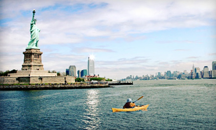 Manhattan Kayak Company - Hell's Kitchen: Kayaking and Standup-Paddleboarding Packages from Manhattan Kayak Company (Up to 51% Off). Four Options Available.