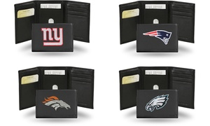 Rico Industries NFL Embroidered Leather Trifold Wallet