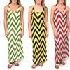 Women's Chevron Racerback Slim-Fit Maxi Dress