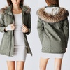 Juniors Long Parka Jacket with Faux-Fur Hood