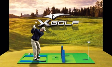 Open Simulator Play for Two or Four with Beers at X-Golf Novi  (Up to 53% Off). Two Options Available.