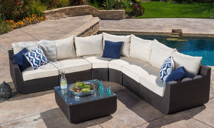 Up To 1% Off On Sofa Set With Cushions (7 Piece) | Groupon Goods