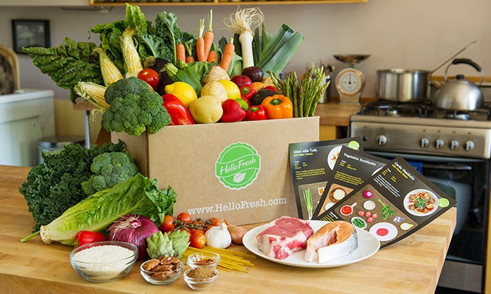 HelloFresh - Jacksonville: Delivery of Three Classic or Vegetarian Cook-at-Home Meals for Two from HelloFresh (Up to 71% Off)