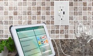Ora 4.2 Amp Rapid Charging Dual AC/USB Combo Charging Outlet