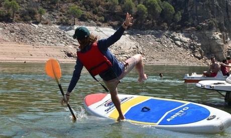 Paddle surf de 2 horas para 1 o 2 personas con opción a menú de hamburguesa o parrilla en Wakea Experience