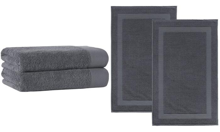 01d7e6ee2b1e Signature Plush Turkish Cotton Bath Sheet Towel or Mat Set (2-Piece)