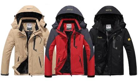 Winterjacke mit Flausch Innenfutter und abnehmbarer Kapuze für Herren in der Farbe und Größe nach Wahl