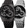August Steiner Mens Watch with Dual Time Swiss Movement