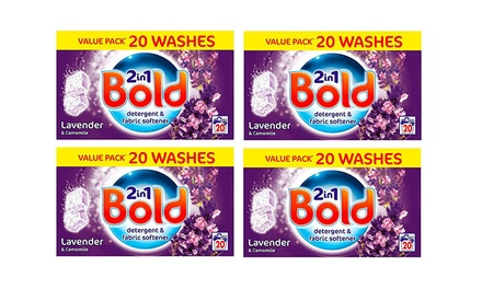 80 P&G Bold TwoinOne Lavender Washing Tabs