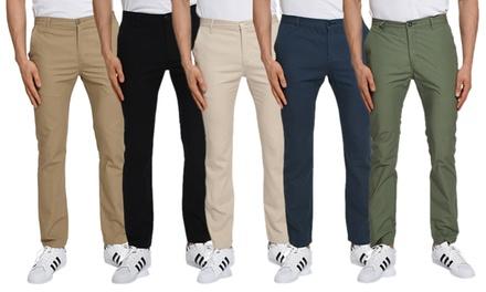 Verdo Men's Slim-Fit Stretch Chino Pants