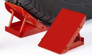Pro-Lift Heavy-Duty Steel Wheel Chock - 2000lbs. Capacity (2 Pack)