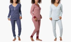 Women's Jersey Henley 100% Cotton Pajama Sleep Set (2-Piece)