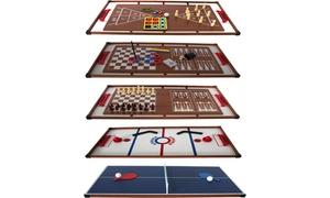 Table bois multi-jeux 14 en 1