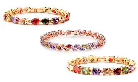 1x oder 2x Multicolor-Kristall-Armband im Design nach Wahl