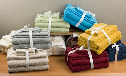 Luxurious 100% Egyptian Cotton Spa Collection 6-Piece Towel Set. Multiple Colors Available.