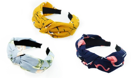 One or Two Cross Knot Hair Bands