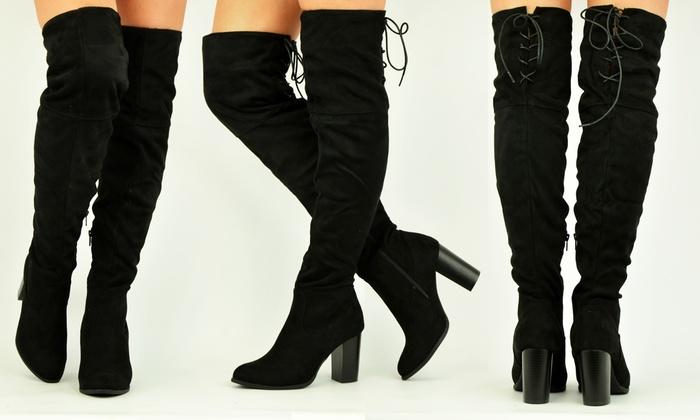 Stivali alti sopra al ginocchio da donna a 19,90 €