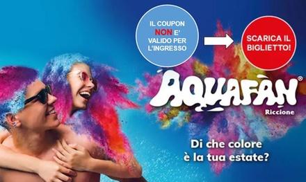 Aquafan di Riccione: ingressi a 21€euro