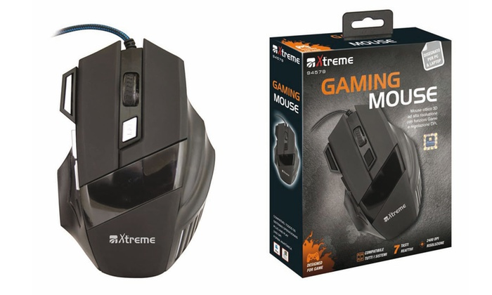Mouse ottico Xtreme per gaming