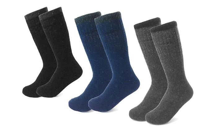 Men's All-Season Heavyweight Work Socks (6 Pairs)