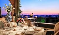 Mirabelle - 4 forchette Michelin con splendida vista su Roma, Menu di mare in 5 portate con piccola pasticceria e vino
