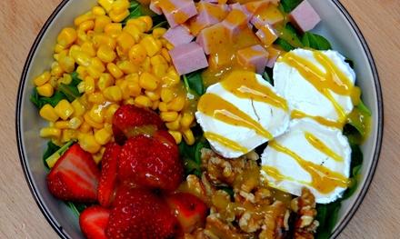 Menú de bowls de ensalada para 2 o 4 personas con bebida incluida desde 14,99 € en Salad Bowl