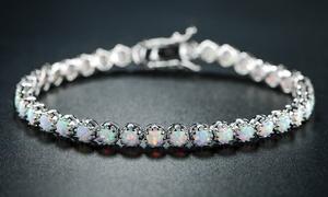 Fire Opal Tennis Bracelet by Peermont