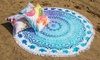 Groupon Goods Global GmbH: Serviette de plage ronde marque HIP avec franges, modèle au choix