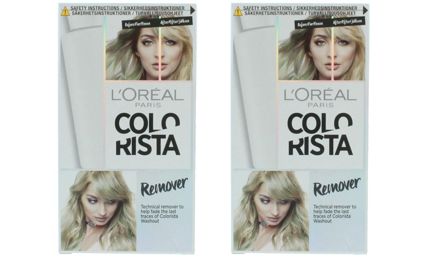 Two-Pack of L'Oreal Colourista Hair Colour and Dye Remover