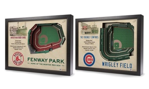 MLB Stadium View 3D Wall Art