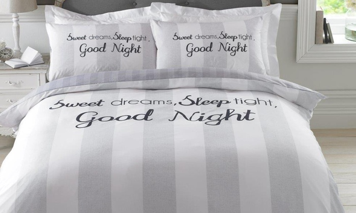 Dreamscene Sweet Dreams Reverisble Duvet Set from £10.99