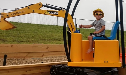 Mini Excavator Ride for One, Two, or Four at The Rusty Guffey (Up to 60% Off)