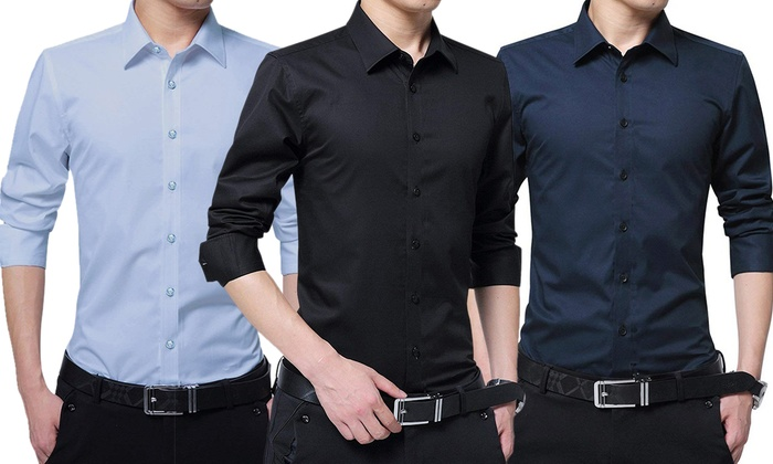 23347f2408 3 camicie slim fit Ferrucci da uomo disponibili in 4 colori e 5 taglie