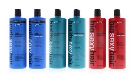Sexy Hair Big Curly Healthy Soy Volumizing Shampoo and Conditioner. Multiple Options Available.