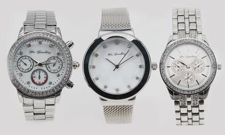 Horloges van het merk Her Jewellery versierd met kristallen in verschillende modellen, inclusief verzending