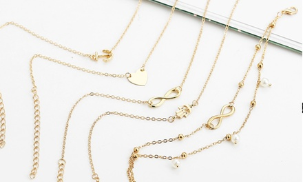 Five-Piece Anklet Chain