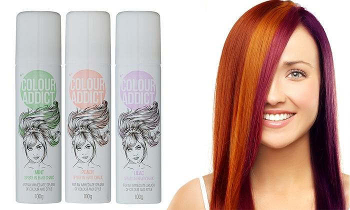 Colour Addict Hair Chalk Sprays Groupon - Hair colour chalk