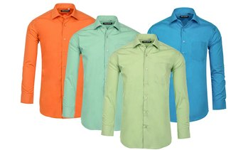 Jack Luxton Colored Classic-Fit Men's Dress Shirts (S-3XL)