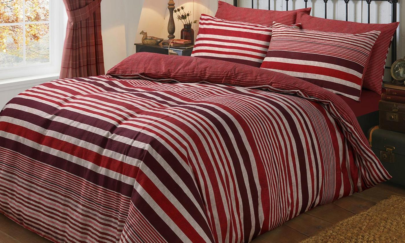 Pieridae Brushed Cotton Duvet Set in Choice of Design and Colour for £9.98