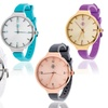 Fortune NYC Women's Thin Strap Watch with Crown Accent