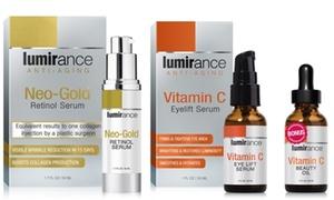 Lumirance Neo-Gold Retinol Serum & Vitamin C Eye Lift with Beauty Oil