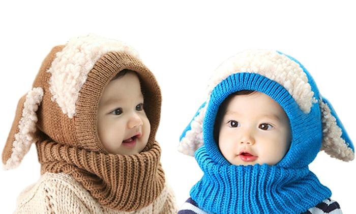 Fluffy Ear Baby Beanies