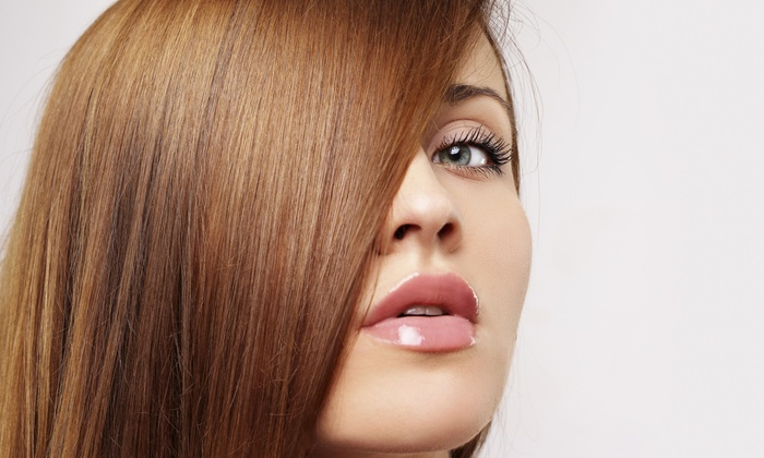 Sarah Gibson At Salon Red - Salon Red: A Haircut and Brazilian Blowout from Sarah Gibson at Salon Red (55% Off)