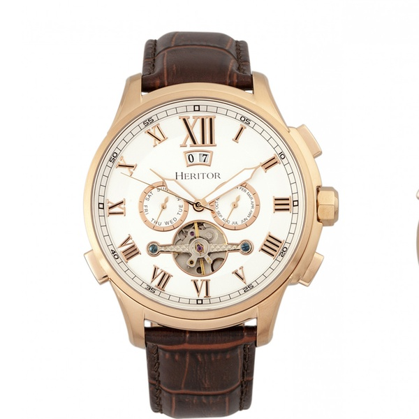 f6f493435 Up To 85% Off on Heritor Automatic Hudson Watch | Groupon Goods